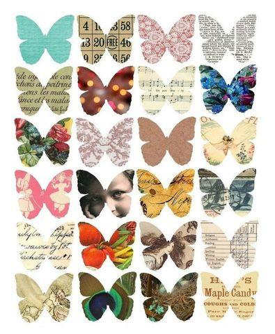 Печать на сахарной бумаге, Набор бабочек 2