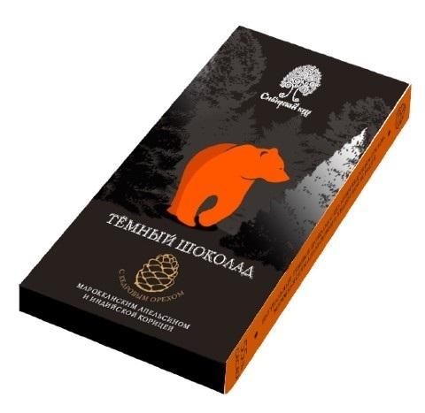 Шоколад темный с апельсином, корицей и кедровым орехом / 100 г