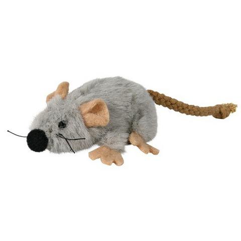 """Trixiе 45735 Игрушка д/кошек """"мышь серая"""", плюш 7см"""