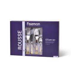 Набор столовых приборов ROUSSE golden 24 пр. Fissman 3198