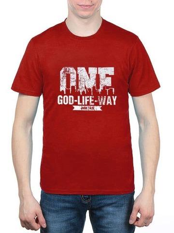 461493-39 футболка мужская, красная