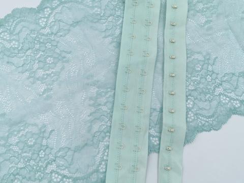 Крючки-петли на ленте, мята,(Арт: KPL-031)