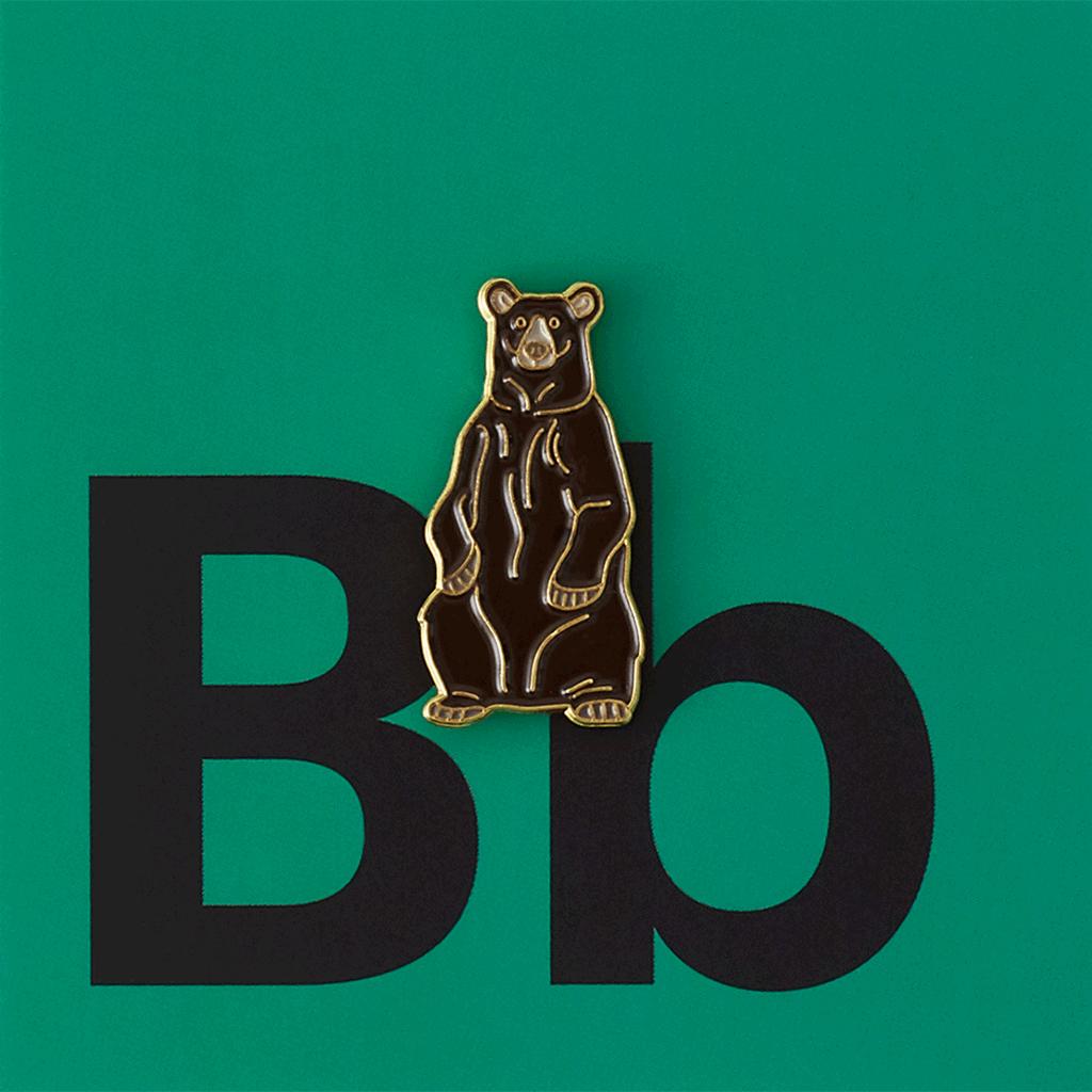 Значок металлический Зоопарк: Бурый медведь