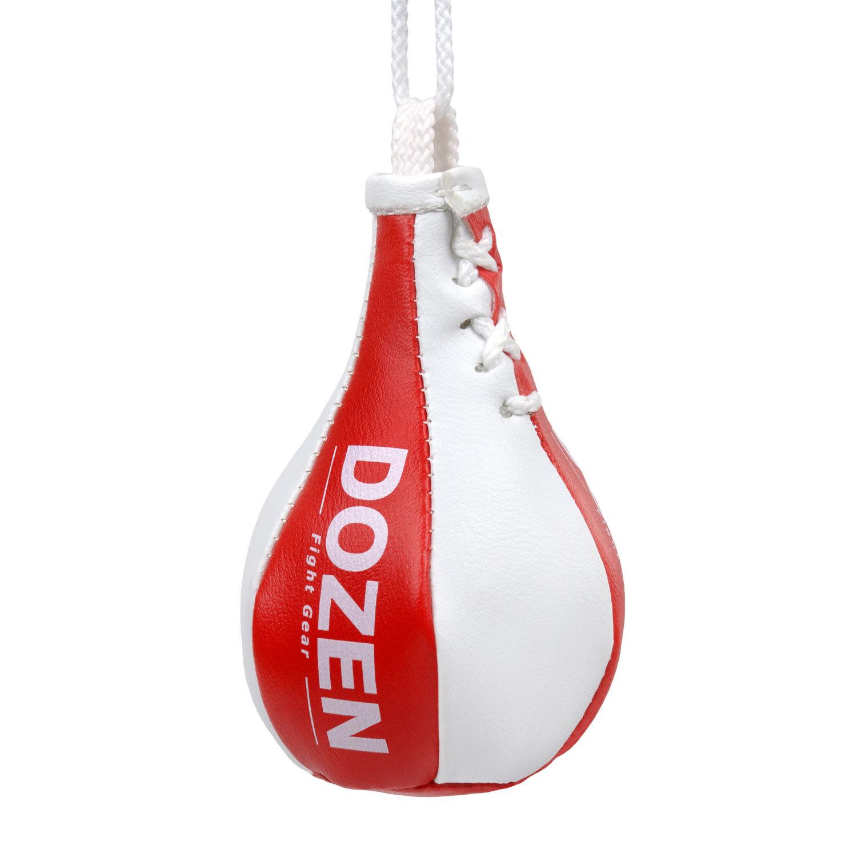Брелок мини-груша Dozen Light красно-белый главный вид