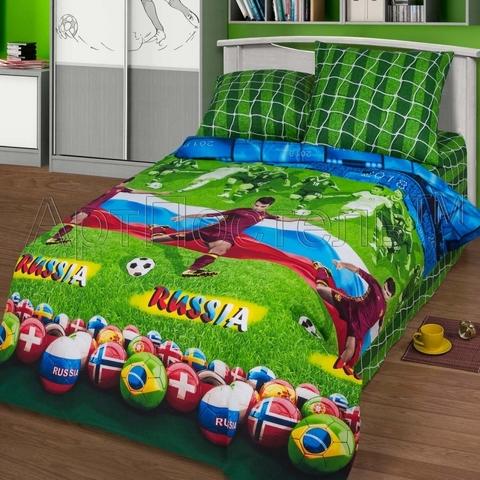 Комплект постельного белья Матч 150 см Премиум