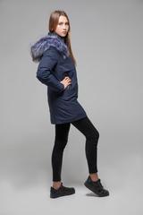Куртка утепленная с меховым капюшоном оптом