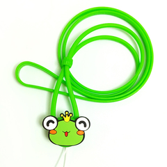 Фотоаппарат детский SmileZoom 24 Мп с чехлом с ушками / Лягушонок шнурок