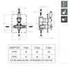 Встраиваемый термостатический смеситель для душа GAUDI 308712S на 2 выхода - фото №2