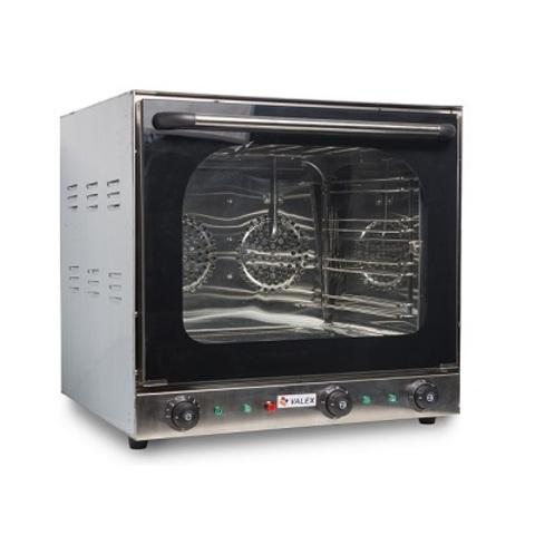 Печь конвекционная VALEX HEB-4F ( 430х340х340 мм, 2,6 кВт, 220В)  пар+гриль