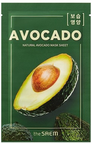 Тканевая маска для лица с экстрактом авокадо The Saem Natural Avocado Mask Sheet , 21мл