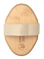 Щетка для сухого массажа с ремешком, средней степени жесткости, массажная щетка Beauty365, Бьюти 365, средней степени жесткости