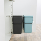 Набор ведер для мусора SORT&GO 12л (2шт), артикул 109980, производитель - Brabantia, фото 3