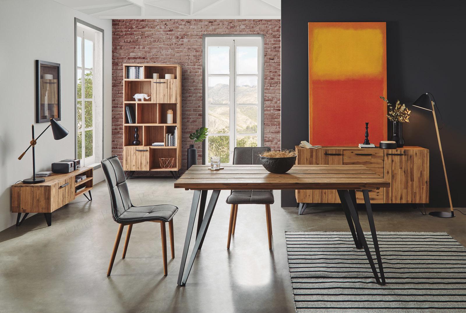 Коллекция IRATI DUPEN: тв тумба, стол и стулья, буфет и стеллаж