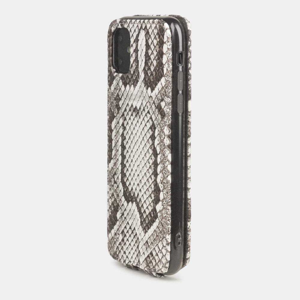 Чехол для iPhone 11 из натуральной кожи питона, цвета Natur