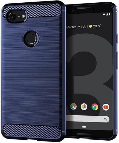 Чехол на Google Pixel 3 цвет Blue (синий), серия Carbon от Caseport