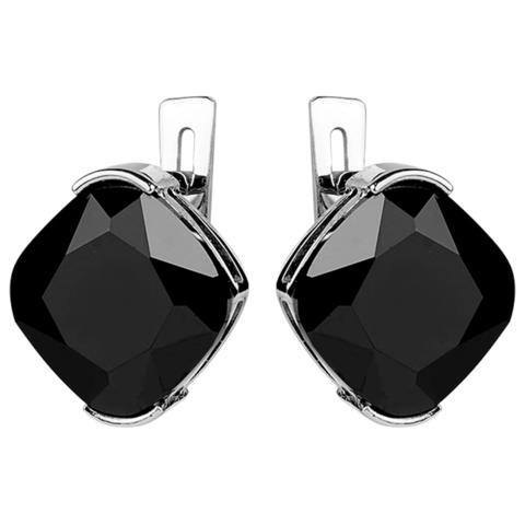 Серьги с черной нано шпинелью Арт. 2155н-шп