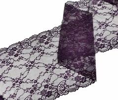 Эластичное кружево,22 см, темно-фиолетовый (Арт: EK-2233), м