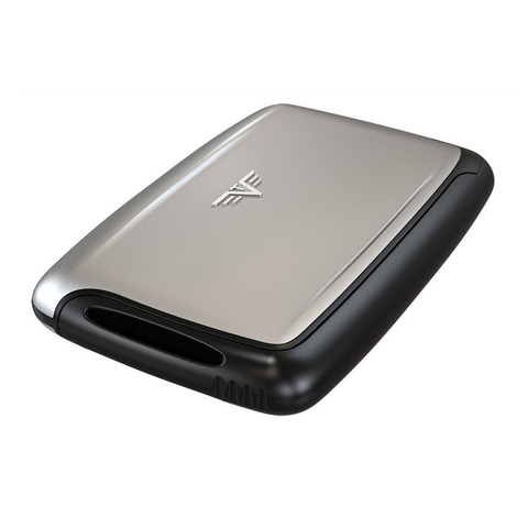 Визитница c защитой Tru Virtu Pearl, серебристый , 104x67x17 мм