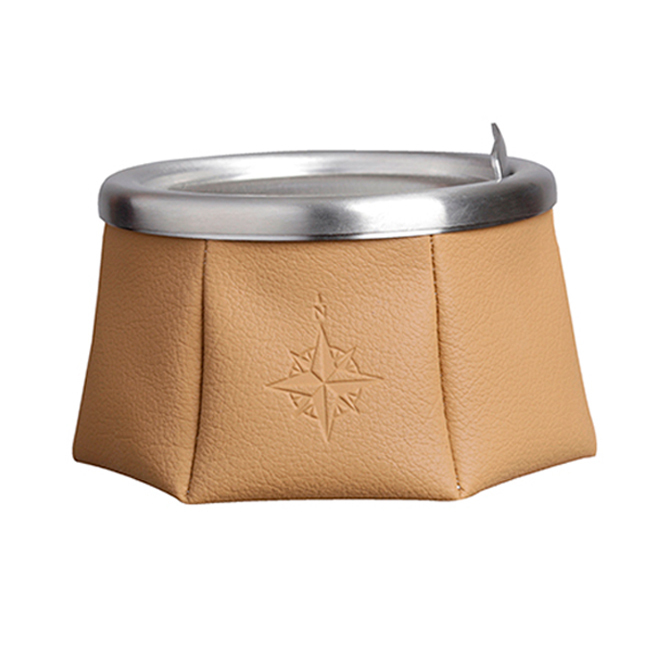 ASHTRAY WITH LID – BROWN, WINDPROOF