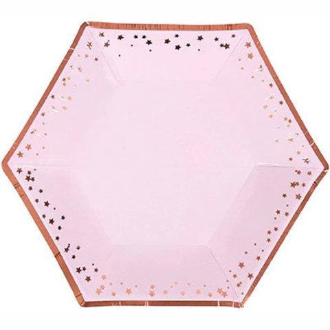Тарелки малые Гламур Pink & RoseGold