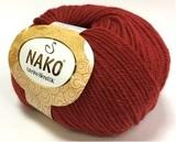 Пряжа Nako Merino Blend DK 298 вишня
