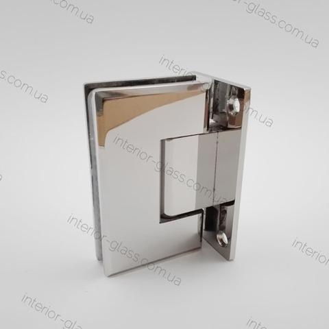 Петля душевая стена-стекло HDL-301 PSS полированная нержавеющая сталь