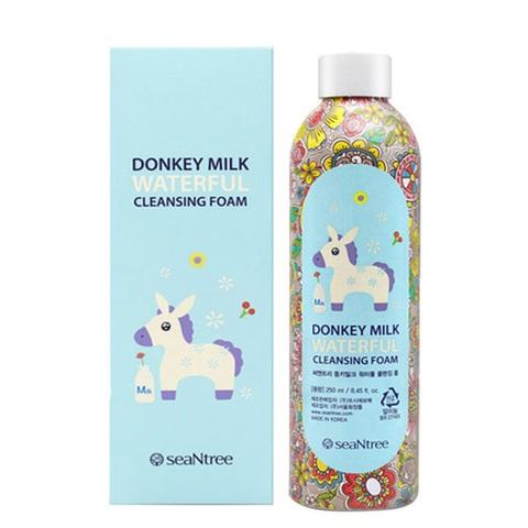 SeanTree Donkey Milk Waterful Cleansing Foam пенка для умывания увлажняющая с молочными протеинами