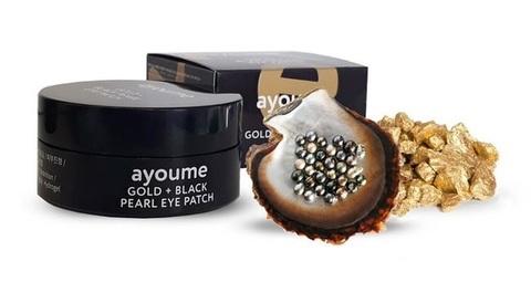 Патчи для глаз с золотом и черным жемчугом Ayoume Gold + Black Pearl Eye Patch