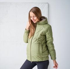 Куртка для беременных теплая зима/демисезон 2 в 1 цвет олива