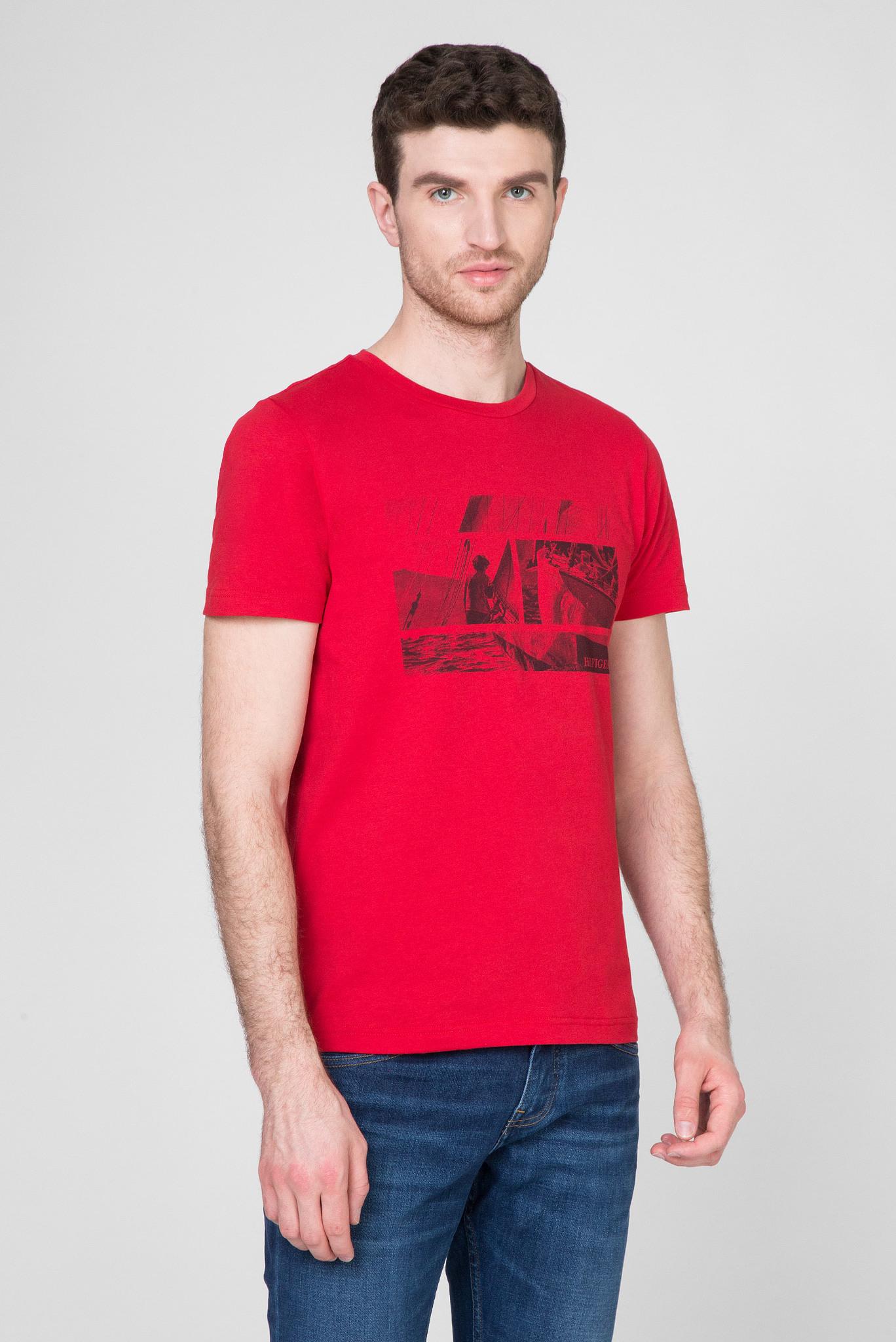 Мужская красная футболка WCC FLAG PHOTO PRINT Tommy Hilfiger