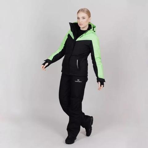 Горнолыжная куртка Nordski Extreme Black/Lime W женская