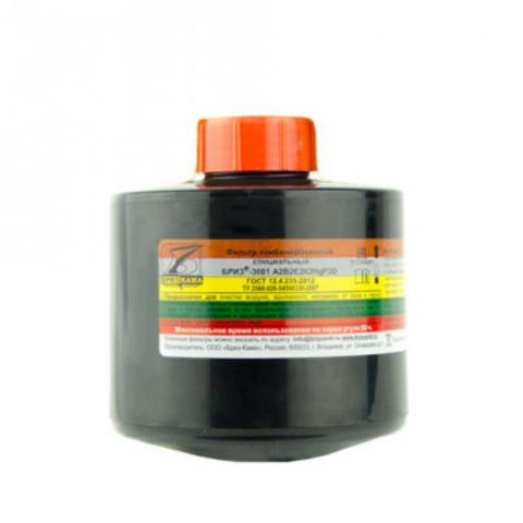 Патрон Бриз-Кама Бриз-3001 марка А2В2Е2К2HgР3 от органических неорганических кислых газов ртути и аэрозолей