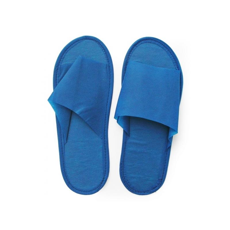 Тапочки с открытым мысом синие