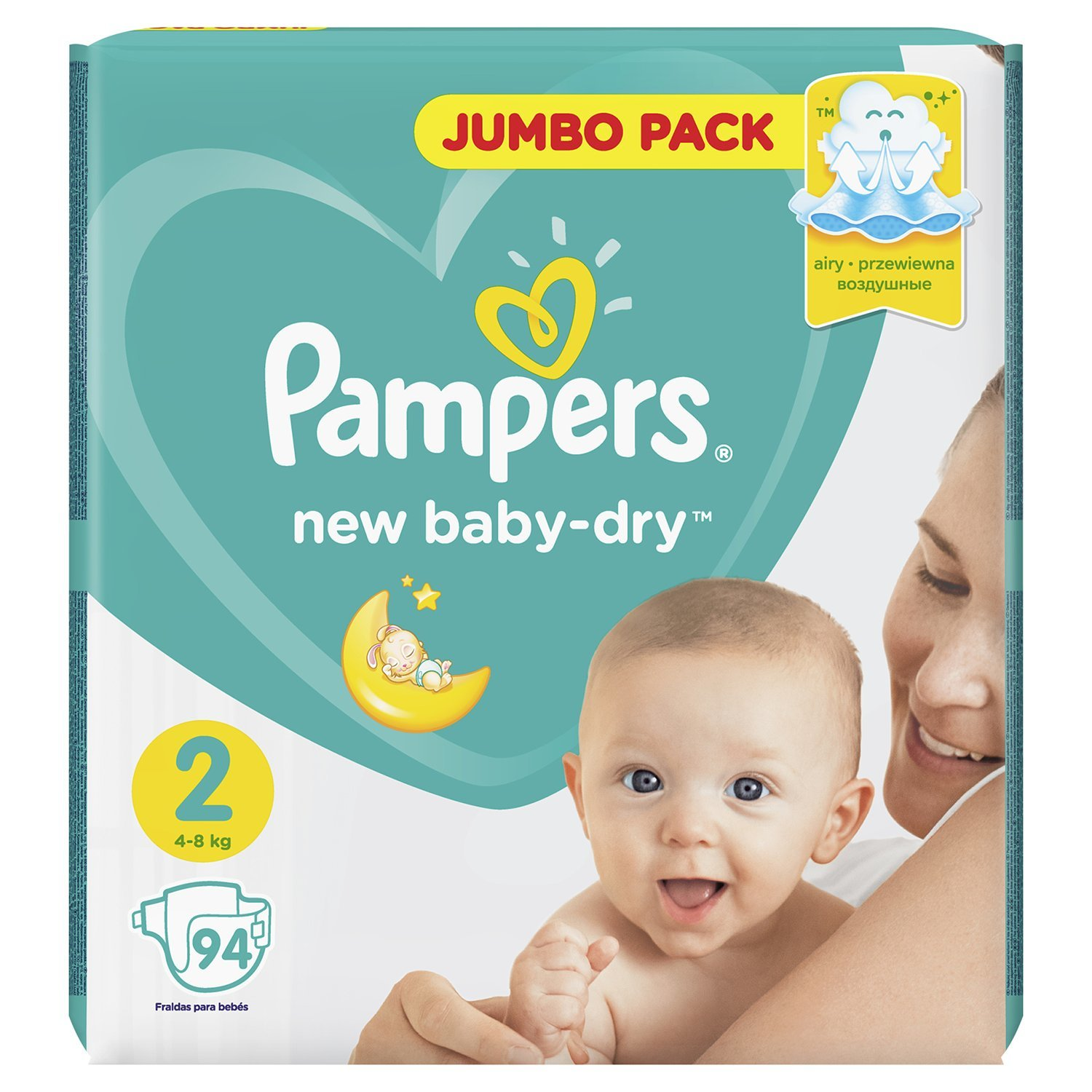 Подгузники Pampers New Baby-Dry 2 4-8кг 94шт