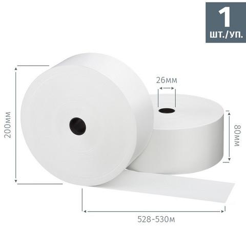 Чековая лента из термобумаги Promega jet 80 мм (диаметр 200 мм, намотка 528-530 м, втулка 26 мм, 1 штука в упаковке)