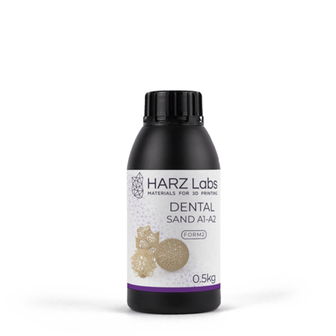 Фотополимер HARZ Labs Dental Sand A1-A2 Form2, бежевый (500 мл)