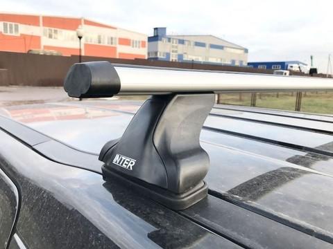 Багажник Интер на  Ford Focus 2 седан в штатные места 8895 аэродинамические дуги 120 см.