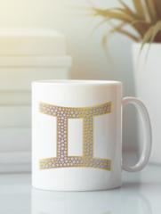 Кружка с изображением Знаки Зодиака, Близнецы (Гороскоп, horoscope) белая 003