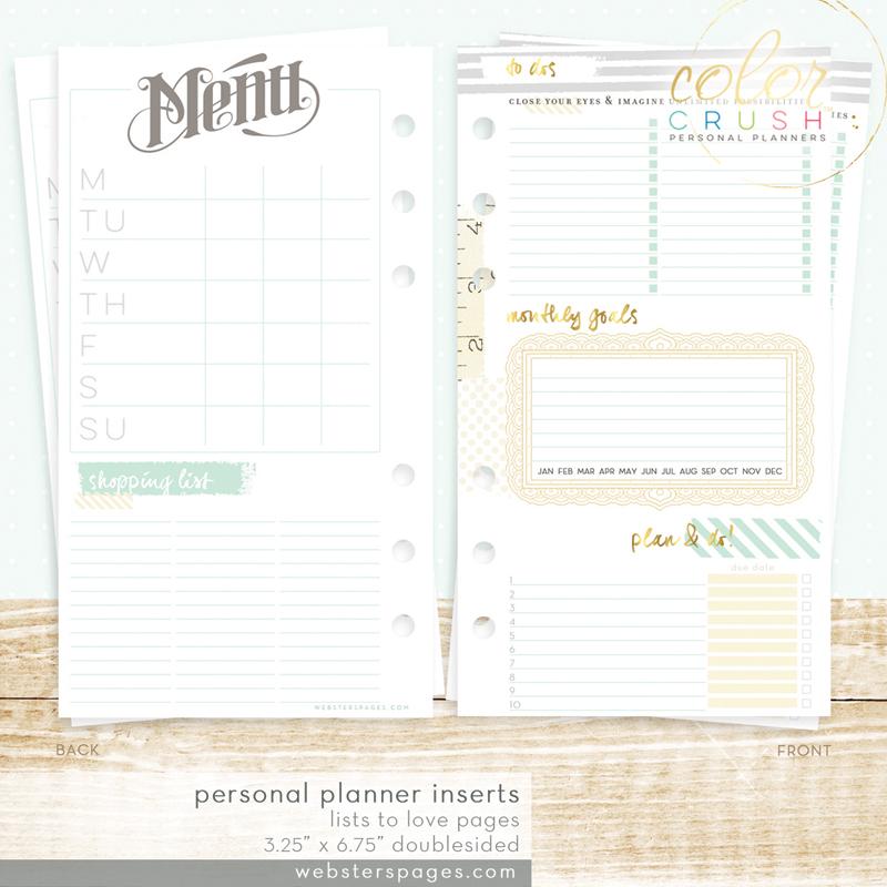 Страницы для  PERSONAL PLANNER Websters Pages для записи рецептов