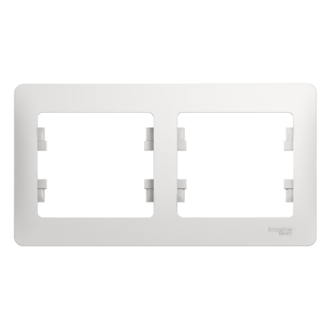 Рамка на 2 поста, горизонтальная. Цвет Белый. Schneider Electric Glossa. GSL000102