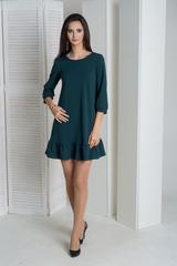 Ирма. Красивое платье свободного фасона. Изумруд