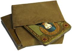Инкрустированная икона Святая преподобная Ангелина Сербская 29х21см на натуральном дереве, в подарочной коробке