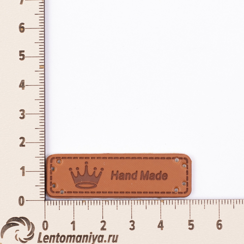 "Бирка пришивная кожаная ""Hand Made"" N1 (3 шт.)"