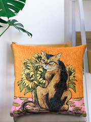 «Ван кот» Наволочка гобеленовая 45х45 см