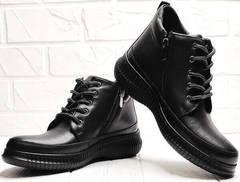 Осенние ботинки женские кожаные Evromoda 535-2010 S.A. Black.