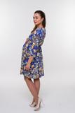 Платье для беременных 08284 синий