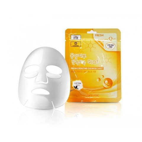 Тканевая маска для лица КОЭНЗИМ 3W CLINIC 3W CLINIC Fresh Coenzyme Q 10 Mask Sheet