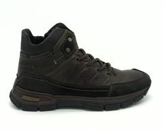 Кожаные ботинки на объемной подошве