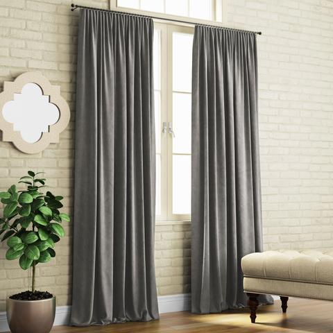 Комплект штор с подхватами Кира темно-серый