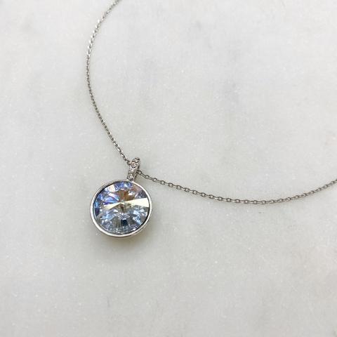 Подвеска Rivoli с кристаллом Swarovski (голубой, серебристый)